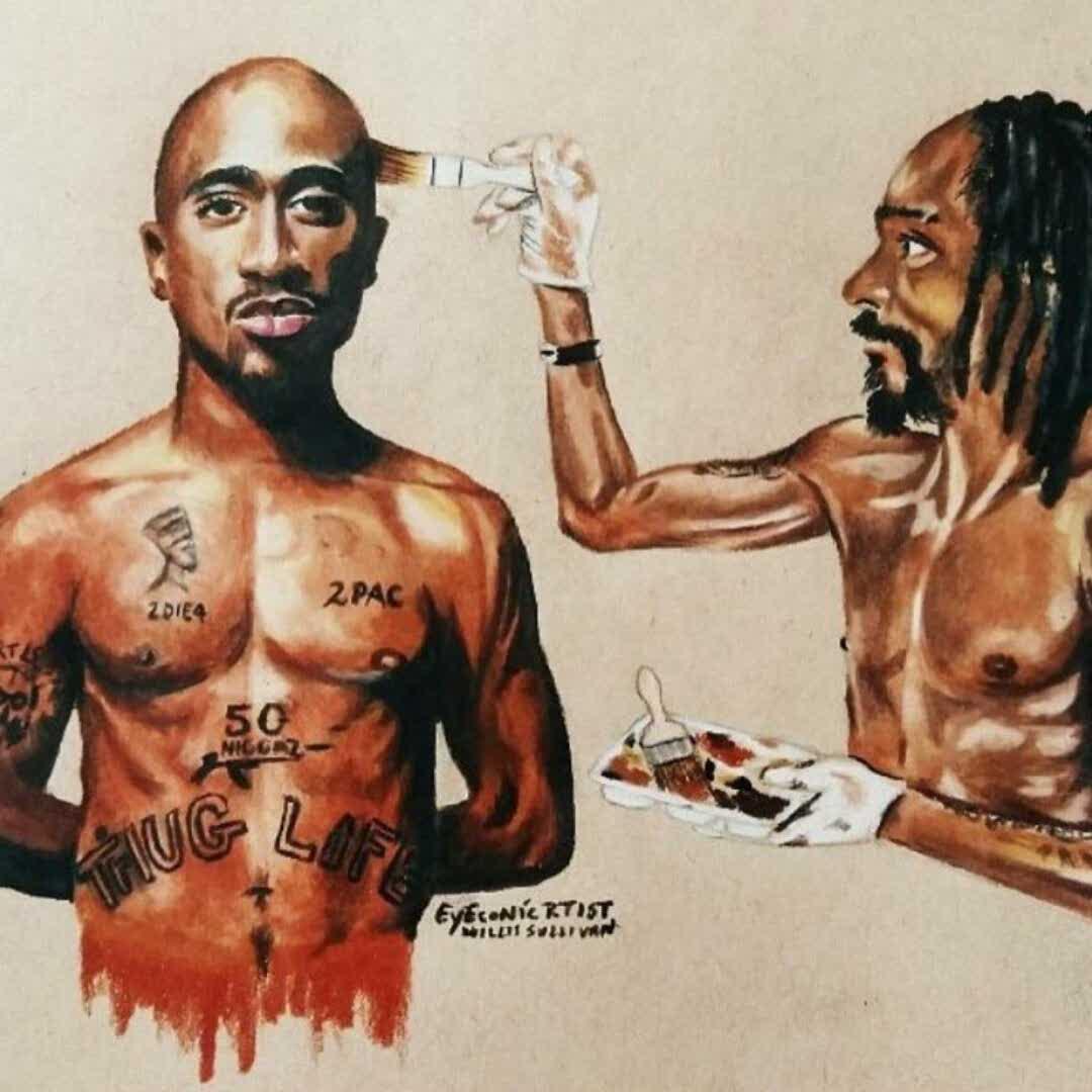Aplicativo De Foto Do Snoop Dogg Bianca Top Leux Studio Putih M